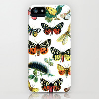 Butterlies iPhone Case - vintage book art girly animal lover insects butterfly white black clear cute cases 5 5s 4 4s FREE shipping to USA