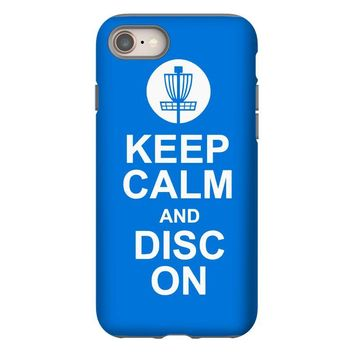 keep calm and disc golf on target frisbee basket iPhone 8