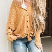 New Buff Single Breasted Irregular One Shoulder Oversized Casual Cardigan Sweater