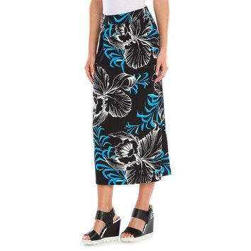 DCCKX8J Dana Buchman Print Pleated Skirt - Women's Size