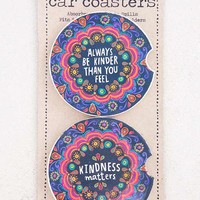 Kindness Set of 2 Car Coasters