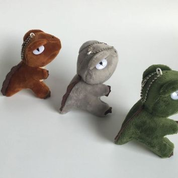 HOT 3Colors - Kawaii Mini Dinosaur Toy , Dragon Plush Stuffed Toy , 10CM Height Approx. keychain Pendant Plush TOY DOLL