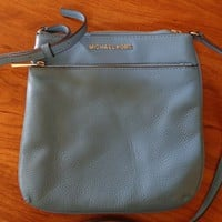 Michael Kors Small Blue Leather Crossbody Bag - Previously Owned