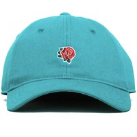 Rose Unstructured Dad Hat Teal