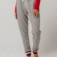 TOMMY HILFIGER Heather Gray Womens Jogger Pants