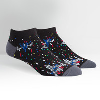 Galaga Themed No Show Socks