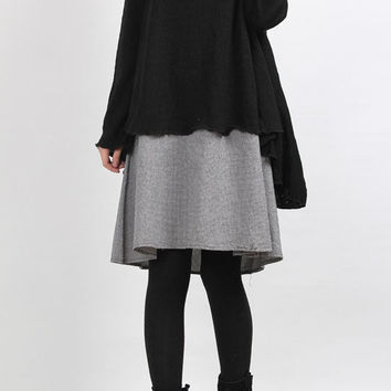 layered long dress black