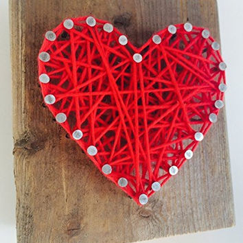 Red Heart Block - A unique Easter basket, Mother's Day, Wedding, Anniversary, Valentine's Day, Christmas, House Warming and New Baby girl or boy gift