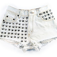 Ari short studded cut off by Omeneye on Etsy