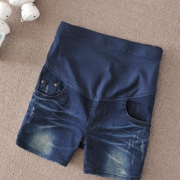Maternity jeans Summer Necessary Prop Belly Pants Pregnant Women Fashion Denim shorts = 1946894084