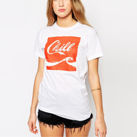 Chill Print Short Sleeve Graphic Tee