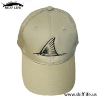 Black Tailing Redfish Tail on Khaki Trucker by Skiff Life