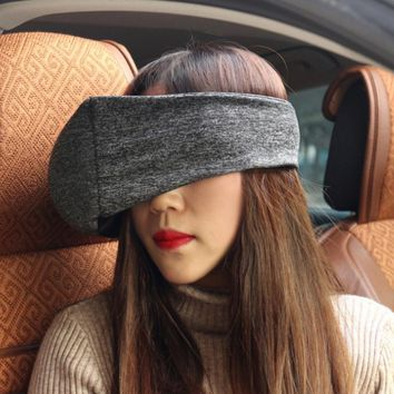 Soft Travel Pillow Neck For Airplane Air Flight Car For Sleep Solid Color Eyeshade Eye Mask Travel Cushion Neck Cushion Support