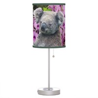 Koala and Orchids Table Lamp