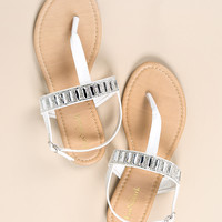Rhinestoned Sandals