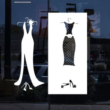 Window and Wall Sticker Vinyl Decal Designs for Clothing Store Dressing Room Shopstore Decor  (n559w)