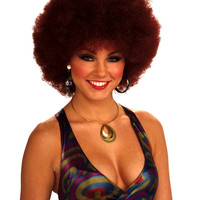Disco Lady Afro Wig Sexy Red Head Afro