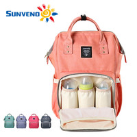 Sunveno Fashion Mummy Maternity Nappy Bag Brand Large Capacity Baby Bag Travel Backpack Desinger Nursing Bag for Baby Care