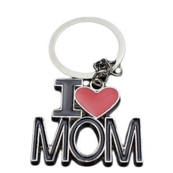 I ♥ Mom/Papa Collection Key Chains - 2 Styles
