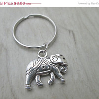 ON SALE Elephant Keychain, Nature Keychain, Party Favors, Wedding Favors, Elephants