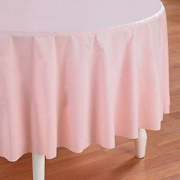 Plastic Table Covers Heavy Duty, Round, 84-inch, PSNS7107