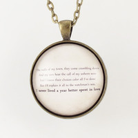 Personalized Song Lyric Necklace, Custom Pendant For Song Lyrics Or Poem