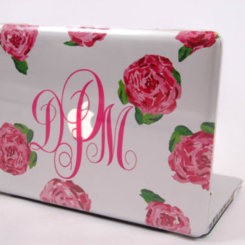 wholesale dealer fb6c3 9257e Monogrammed Lilly Pulitzer (inspired) MacBook Pro Laptop Computer Case