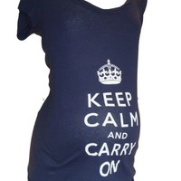keep calm maternity tee black small