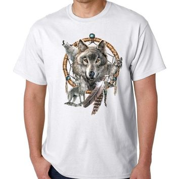 Graphic T Shirts  Native American Wolf Dream T-shirt