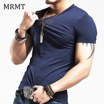 Elastic V neck Casual T-Shirt