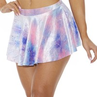Velvet Stardust Mini Skirt