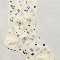 Mermaid Sheer Socks by Hansel From Basel Ivory One Size Socks