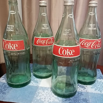 Collectible 32 oz. Glass Coke Bottles