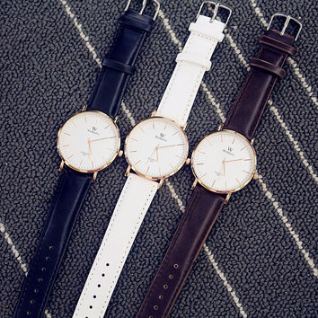Korean Fashion Unisex Watch Retro Simple Couple Watch (With  Battery&Watch Box)