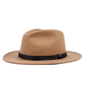 Brixton - Messer Fedora Tan / Black Hat