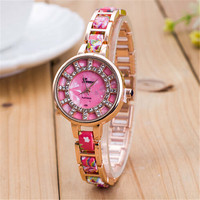 Womens Floral Watch Gilrl Diamond Watches Best Christmas Gift