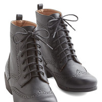 ModCloth Menswear Inspired, Vintage Inspired, French Evening Exploring Boot in Black