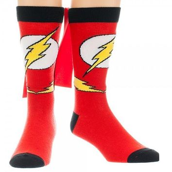 DC Comics Flash Cape Crew Socks