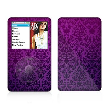 The Purple Delicate Foliage Pattern Skin For The Apple iPod Classic
