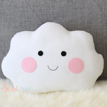 Cloud Pillow - Handmade pillow - Nursery pillow - Nursery decor - Baby room - Baby room decor - Baby girl nursery - Baby pillow