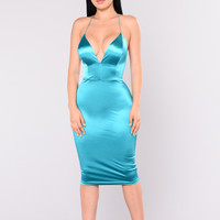 KoKo Satin Dress - Jade