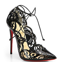 Impera Lasercut Patent Leather Pumps