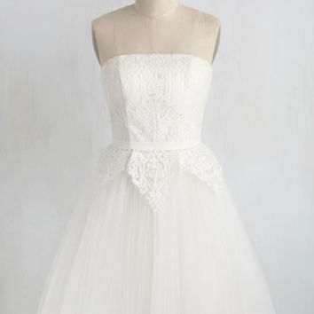 Tulle Love and Cherish Dress in White
