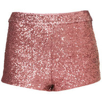 Pink Sequin Knicker Shorts - New In