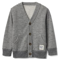 V-neck terry cardigan | Gap