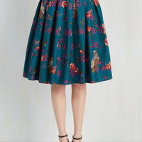 Woodland Creature Long Full Light and Aviary Skirt