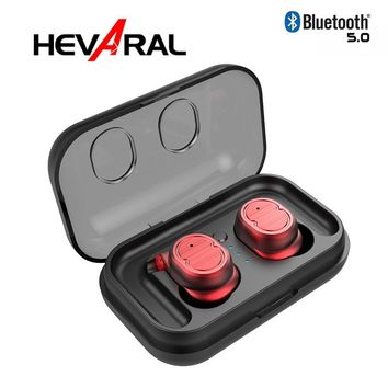 Hevaral Touch Control DSP TWS Bluetooth 5.0 Earphone IPX5 Waterproof HIFI Super Bass Sound Wireless Quick Connect Smart Earbuds