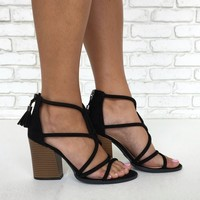 Happy Hour Heels in Black