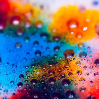 Rainbow Abstract Outer Space Photo Print  Colorful Unique Macro Wall Art   8x10 16x20 Ikea Ribba