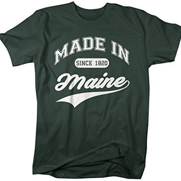 Shirts By Sarah Men's Made In Maine T-Shirt Since 1820 State Pride Shirts
